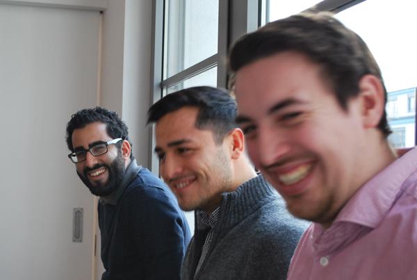Farid Birdardel, Bishan Bakhrom und Dario Hergarden im Social Impact Lab