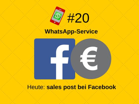 Facebook und sales