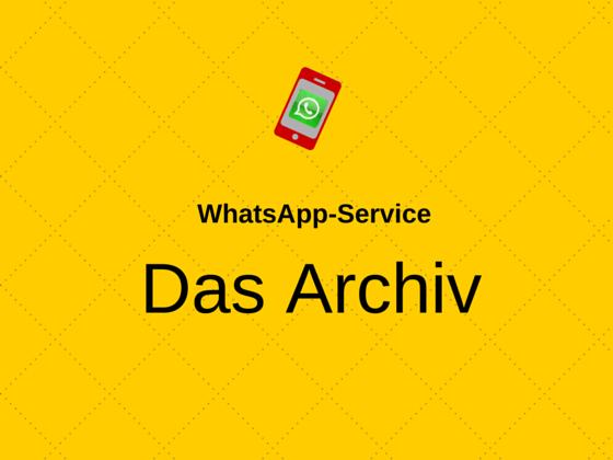 Das Archiv des schwarzwild WhatsApp-Service