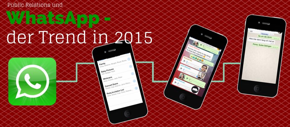 Trend 2015: Public Relations mit WhatsApp