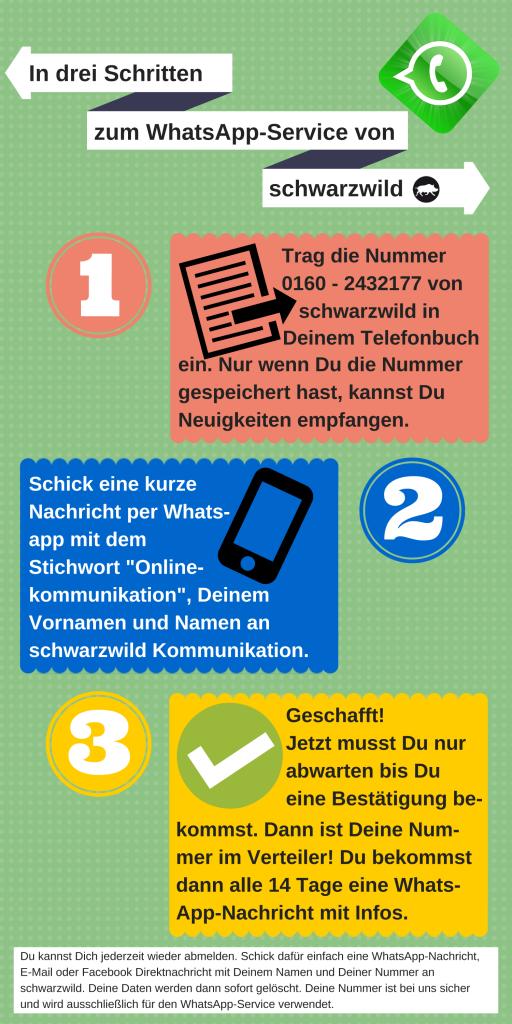 Der WhatsApp-Service. Newsletter per WhatsApp