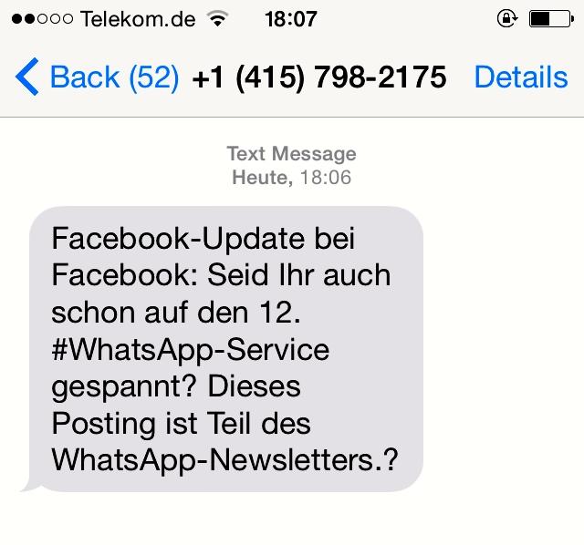 Info SMS von IFTTT