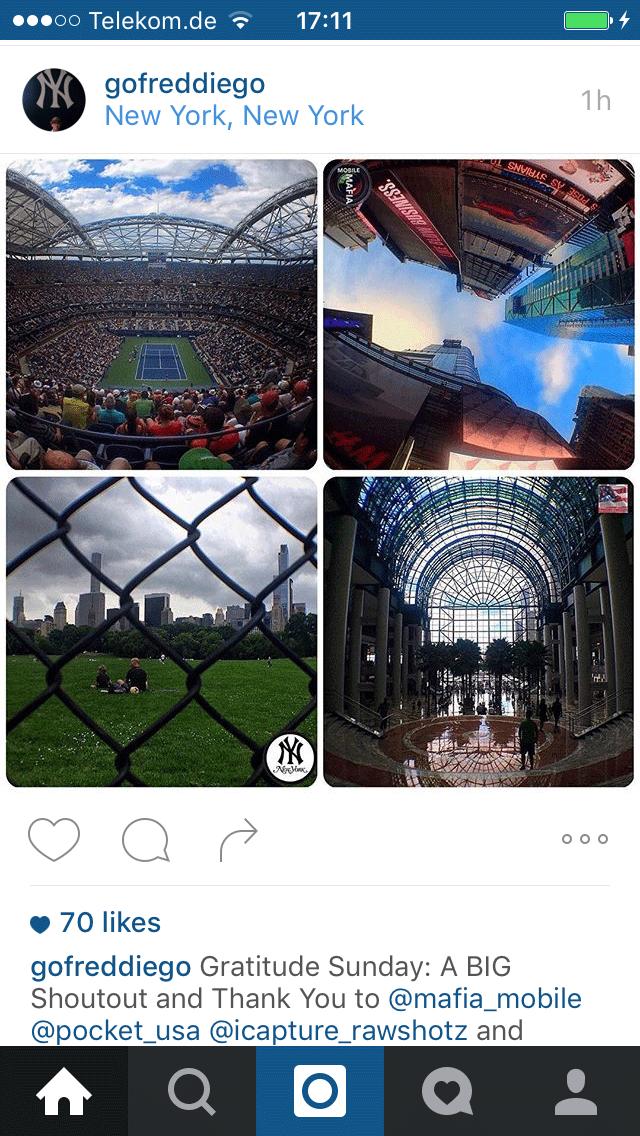 Mehrere Bilder zu einem Instagram-Bild kombinieren