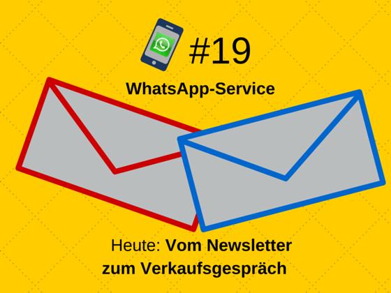WhatsApp-Service #19: Der Newsletter
