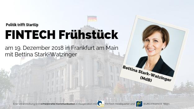 Bettina Stark-Watzinger (FDP) kommt zum FinTech Frühstück