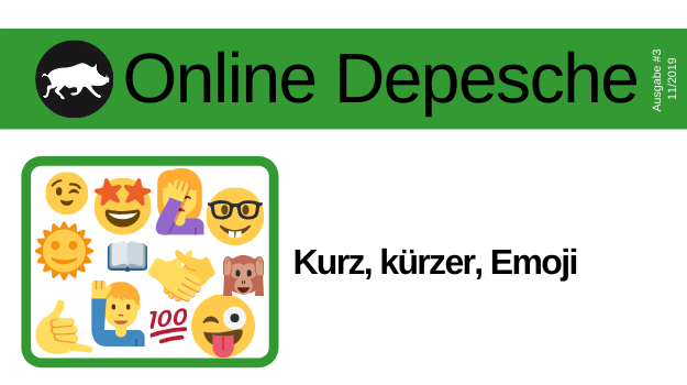Emojis verdichten Emotionen